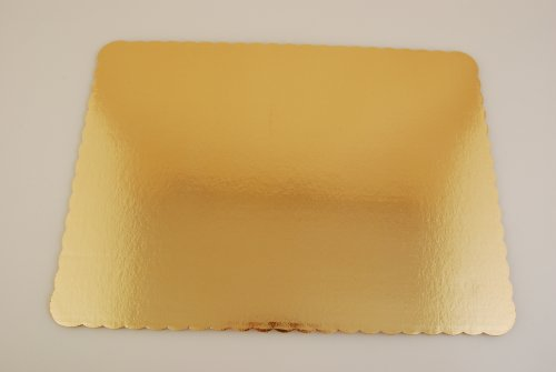 "Southern Champion Tray 1665 Sturdy Corrugated Double Wall Cake Pad, Half Sheet, Gold Metallic, Greaseproof, 19"" Length x 14"" Width (Case of 25)"