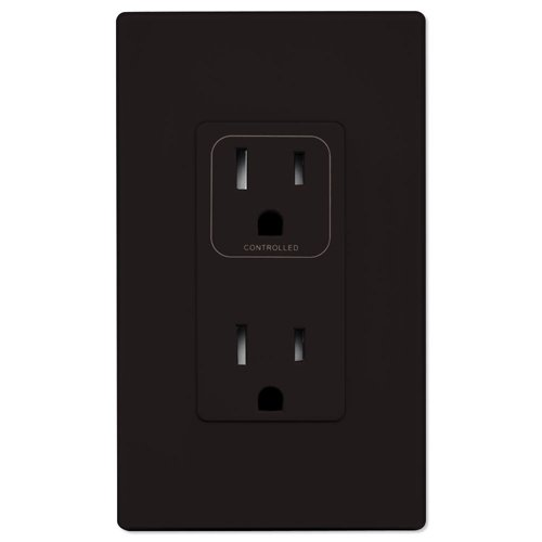 PCS SimpleWorx Split Duplex Wall Receptacle, Brown