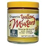 Eden Foods Organic Yellow Mustard - Glass, 9 Ounce -- 12 per case.