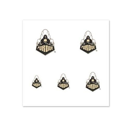 (NCAA Purdue University Boilermakers 4-Pack Temporary Nail Tattoos)
