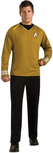 Rubie's Costume Star Trek Into Darkness Grand Heritage Captain Kirk Shirt With Emblem, Gold/Black, Small (Grand Heritage Costumes)