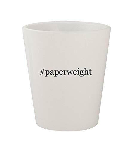 #paperweight - Ceramic White Hashtag 1.5oz Shot Glass