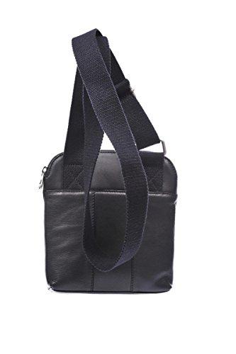 Armani Jeans borsa uomo a tracolla borsello in pelle vintage nero