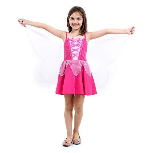 Borboleta Pink Infantil Sulamericana Fantasias Rosa G 10/12 Anos