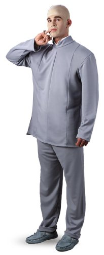 Disguise Men's Austin Powers Dr. Evil Deluxe Costume, Beige, - Malls Austin Shopping