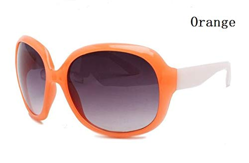 2019 Brand Summer Sunglasses Women Sun Glasses Vintage 10 Colors Big Frame Uv400,Orange (Sonnenbrille-orange Lens)