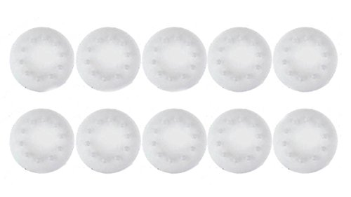Hosaire 10 Pcs Analog Stick Joystick Controller Thumb Grips Cap Silicone Stick Protect Cover for PS2, PS3, PS4, Xbox 360, Xbox One, Wii Game Controller White ()