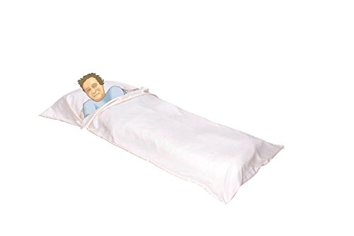 Liners Bag Sleeping Sleepsacks - OctoRose Royalty Large Size Silky Satin Cocoon Sleep Sack Travel and Camping Sheet Sleeping Bag Liner (SLG-95x42, Cream)
