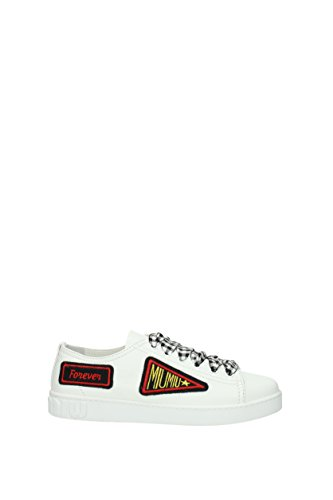 Donna Bianco 5E732BNAPPA18 Pelle Sneakers miu EU miu YOAwqSEUR
