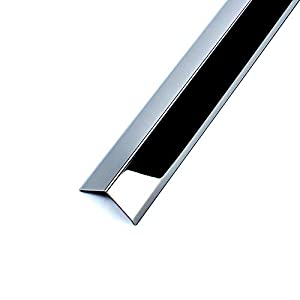 Wall Corner Guard Black SUS 304 Stainless Steel Edge Protector Decoration Corner Cushion Baby proofing Edge Bumpers Strip Table Furniture Protector(3.9 inches)
