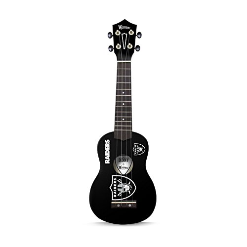 Woodrow Guitar by The Sports Vault NFL Oakland Raiders Ukulele (Oakland Raiders Guitar Picks)