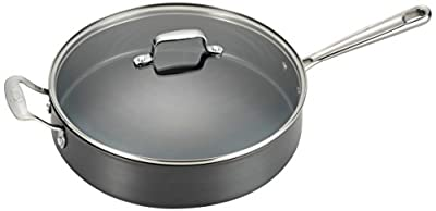 Emeril by All-Clad E83691 Hard Anodized Dishwasher Safe Oven Safe Scratch Resistent Sauce Pan, 5-Quart