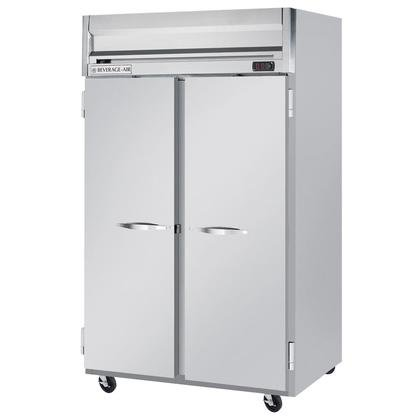 Beverage-Air HF2-1S 52'' Horizon Series Two Section Solid Door Reach-In Freezer 49 cu.ft. capacity Stainless Steel Front Gray Painted Sides Aluminum