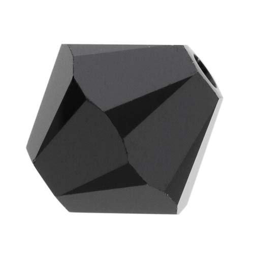Swarovski Crystal, #5328 Bicone Beads 4mm, 24 Pieces, Jet