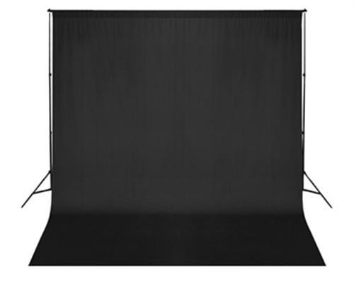 300 x 300 cm Fotostudio Hintergrund Chromakey Green Screen in Schwarz