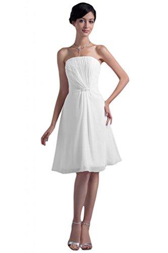 Sunvary - Vestido - para mujer Blanco blanco