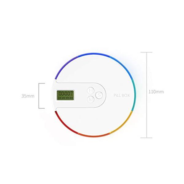 NICEXMAS - Pastillero digital portátil con indicador de fecha de alarma, pastillero inteligente con recordatorio 4