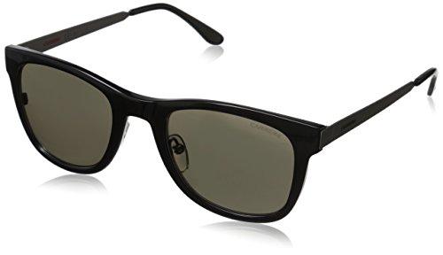 (Carrera CA5023S Wayfarer Sunglasses, Interchangeable cover, Ruthenium Black & Brown Gray, 52 mm)
