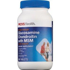 90 Tabs Glucosamine Chondroitin - CVS Glucosamine Chondroitin with MSM, 90 Tablets