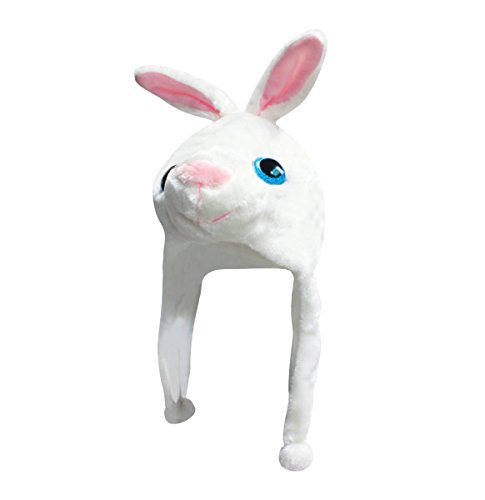 Csi Rabbit Costume (New 2015 Plush Faux Fur Stuffed Animal Big Glitter Eye Critter Hat Cap - Over 25 Stlyes! (Walter White Rabbit))