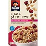 Quaker Real Medleys Cereal Cherry Almond Pecan Multigrain 17 OZ (Pack of 12)