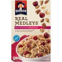 Quaker Real Medleys Cereal Cherry Almond Pecan Multigrain 17 OZ (Pack of 12)