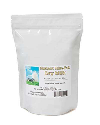 Premium Grade Instant Non-Fat Dry Milk – 12.3oz packaged for long-term storage