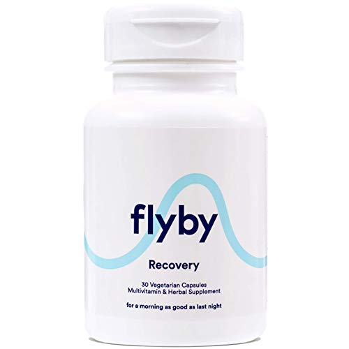 Flyby Hangover Cure & Prevention Pills (30 Capsules) | Dihydromyricetin (DHM), Chlorophyll, Prickly Pear, N-Acetyl-Cysteine, Milk Thistle for Morning After Alcohol Recovery & Aid | Certified Organic