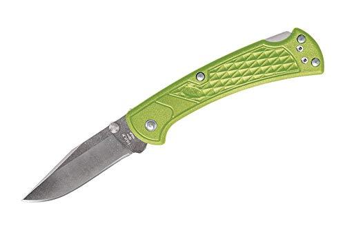 Buck Knives 112 Slim Select Folding Lockback Pocket Knife with Thumb Studs and Removable/Reversible Deep Carry Pocket Clip, Nylon Handles, 3