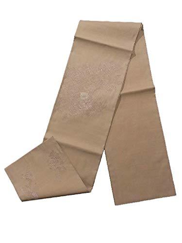 追記つかの間力学リサイクル 袋帯 刺繍 ドロンワーク 橘に菊の花 正絹 お太鼓柄