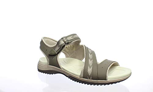 Dr. Scholl's Shoes Women's Daydream Slide Sandal, Malt Taupe Action Leather, 6.5 M US ()