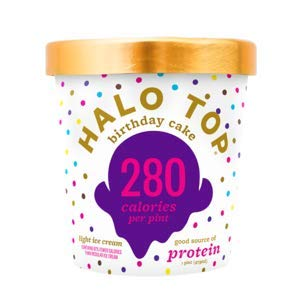 Halo Top, Birthday Cake Ice Cream, Pint (4 Count) (Best Halo Top Ice Cream)