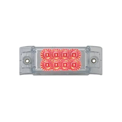 Grand General 77663 Red Rectangular Spyder 8-LED Marker and Clearance Sealed Light with Clear Lens: Automotive