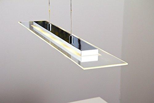 Höhenverstellbare LED Hängelleuchte Malef 4 x 5 Watt - 4 x 400 Lumen - 3000 Kelvin warmweiss mit Touch-Dimmer an der Leuchte