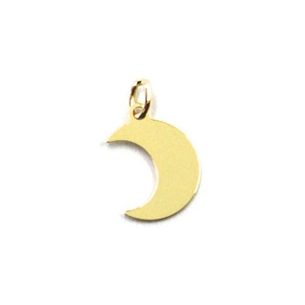 Colgante genérico de oro amarillo 750 18 K, luna, mini, largo 1 cm, colgante Colgante genérico de oro amarillo 750 18 K, luna, mini, largo 1 cm, colgante Colgante genérico de oro amarillo 750 18 K, luna, mini, largo 1 cm, colgante