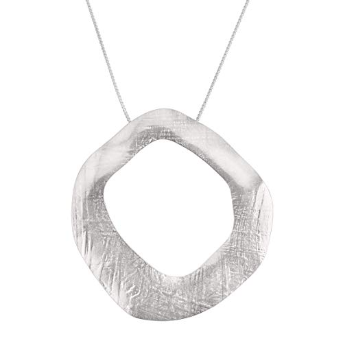 (Silpada 'Noveau' Textured Pendant Necklace in Sterling Silver)