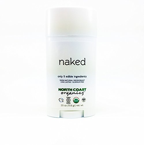 North Coast Organics All Natural Unscented Deodorant: Naked 2.5oz - Aluminum, Paraben, Sulfate, Cruelty, and GMO FREE