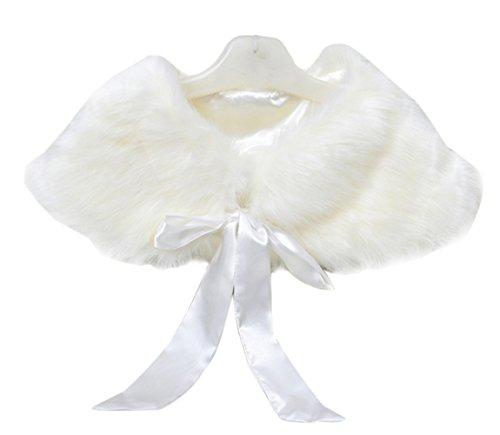 SK Studio Girls Princess Faux Fur Bolero Shoulder Cape Shawl Stole Shrug by SK Studio