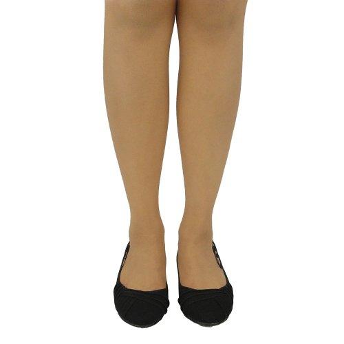 Shoes Flats Creased Ballet Comfort Black Side Suede Women Faux 0XqxP5p5