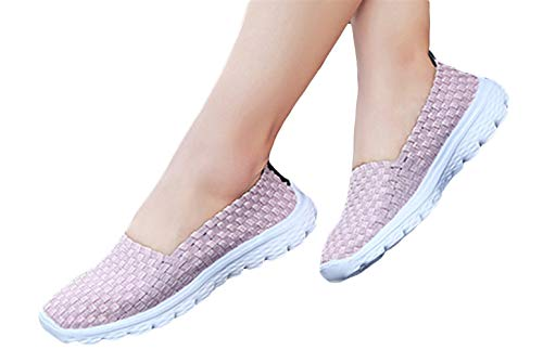 Zapatillas Atléticas Sandalias Mujer 40 Flats Verano Woven Rosa Studio Cómodos Deportivas 35 Sk Respirables R0xqXx