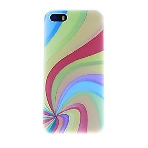GONGXI- Siete Colores Patrón PC caso duro para el iPhone 5/5S
