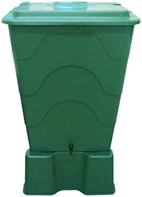 Original Organics Large 280L Green Water Butt Stand Included