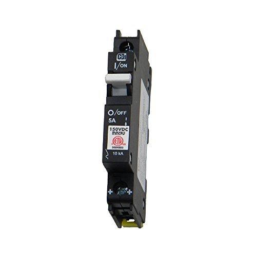 (Din Rail Mount Combiner PV Breaker - 5 Amp, 150 Volt DC, | MNEPV5)
