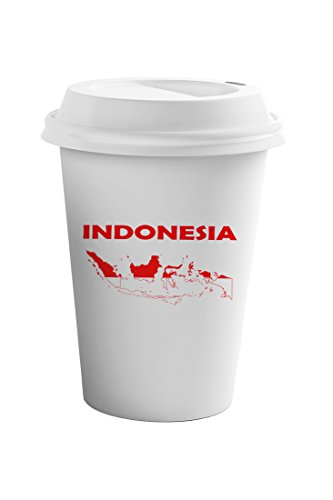 Style In Print Indonesia Original Country Name Coffee Ceramic Travel Tumbler Mug 11oz by Style in Print
