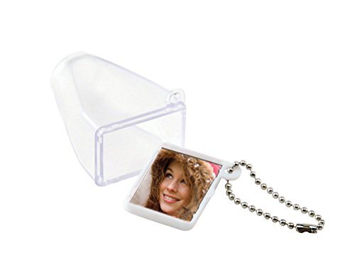 Frosted White Full Frame Viewer Keychain - Case of 50 by Neil Enterprises, Inc