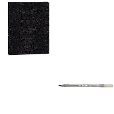 KITBICGSM11BKREDA10200EBLK - Value Kit - Blueline Exec Wirebound Notebook (REDA10200EBLK) and BIC Round Stic Ballpoint Stick Pen (BICGSM11BK) - Exec Wirebound Notebook