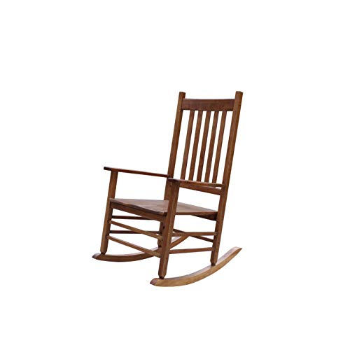 Rockingrocker-A001YNT Natural Indoor Rocker/Rocking Chair -Easy to Assemble-Comfortable Wide Size-Outdoor or Indoor Use