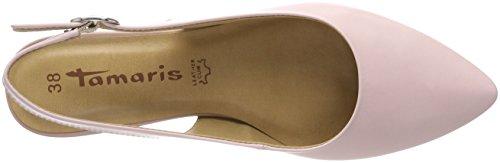 Tamaris 29400, Sandalias de Talón Abierto Para Mujer Rosa (Rose Leather)