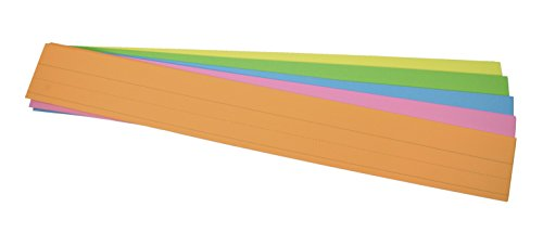 - School Smart Sentence Strip, 3 x 24 Inches, Assorted Neon Colors, 90 lb, Pack of 100