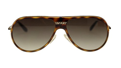 Carrera 89 8EN Havana With Brown Gradient Aviator Mens Sunglasses 61mm - Carrera Authentic Sunglasses